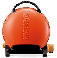TravelQ 2225 portable gas grill in orange