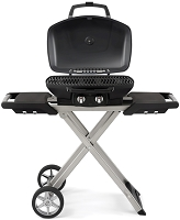 PRO 285X portable gas grill in black with cart