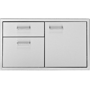 Built-in Door and Drawers Combo